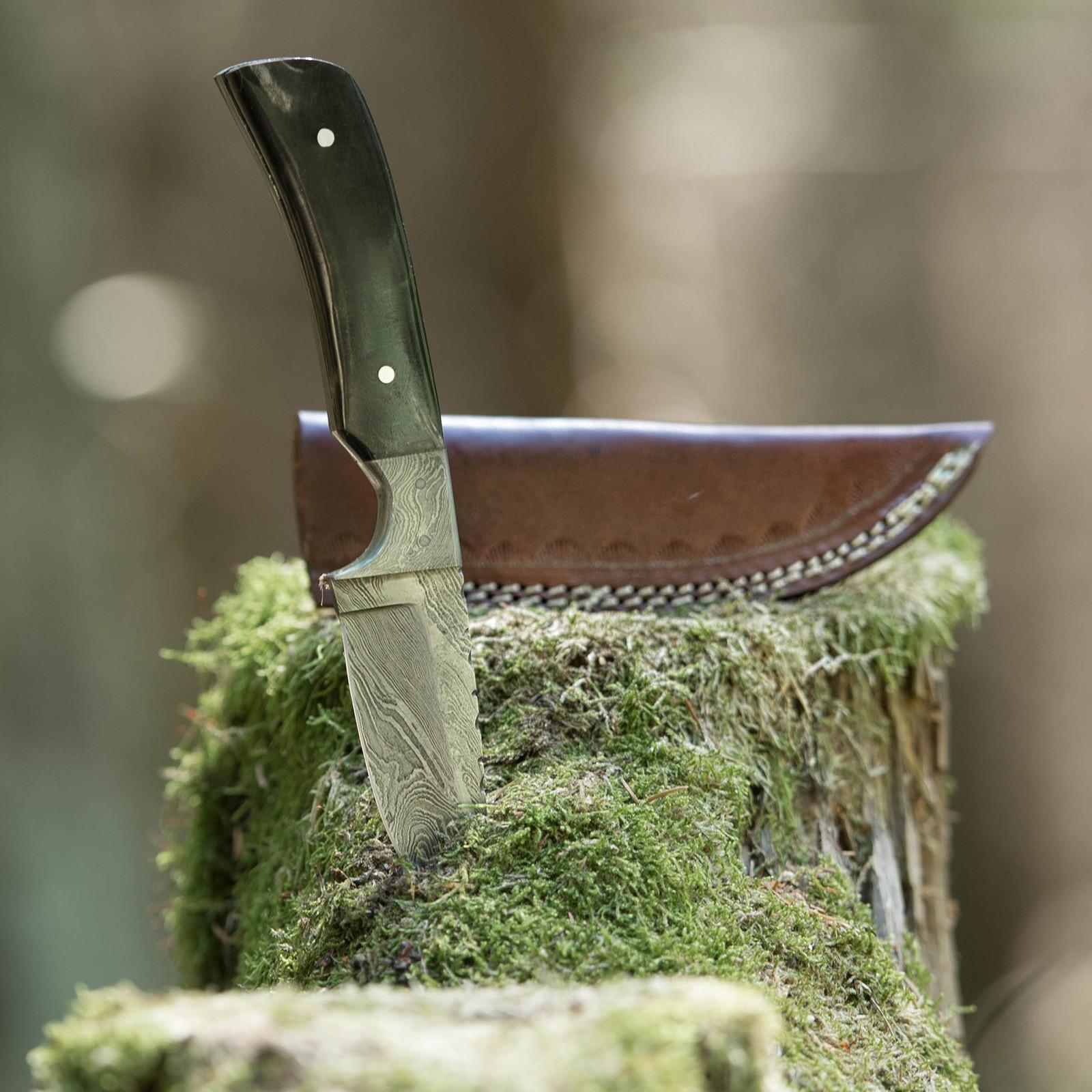 Nóż myśliwski Damascus Horn