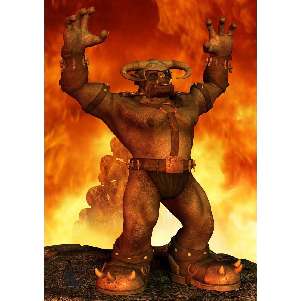 Cel Fantasy Edition Ork 3 - 59x84cm